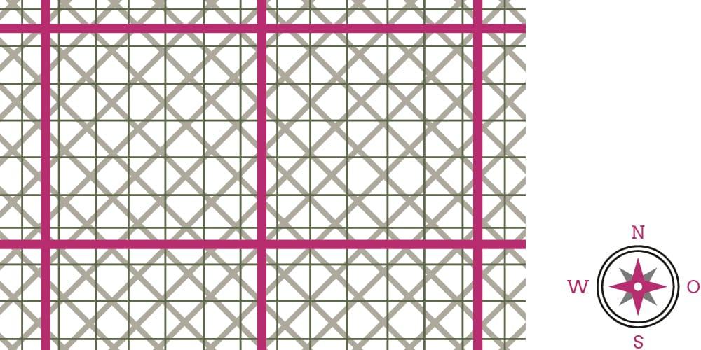 Grafik Gitternetze Hartmann, Curry und Benker